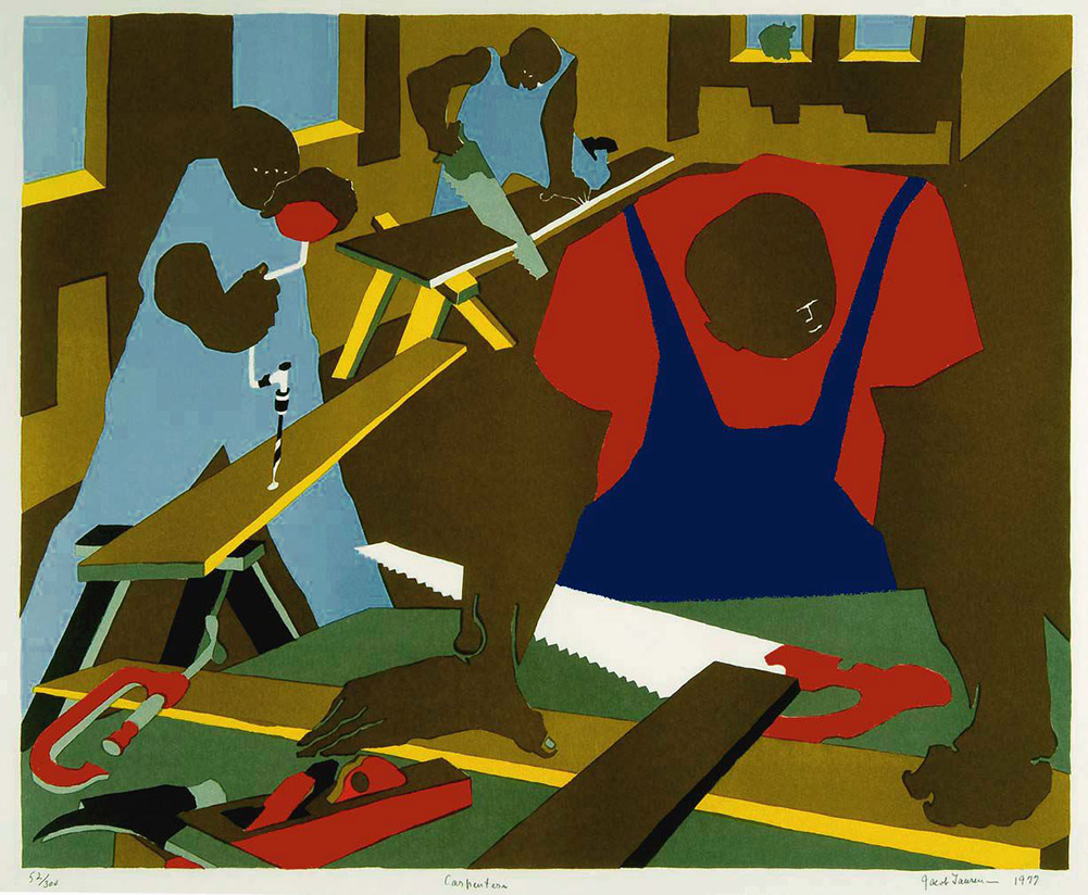 jacob lawrence Jacob lawrence: the migration series, catalogue of the exhibit at the moma by elizabeth alexander, edited by leah dickerman and elsa smithgall, art by jacob lawrence courtesy of amazoncom the great migration was the mass movement and relocation of six million african-americans from the rural south.